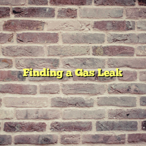 Finding a Gas Leak