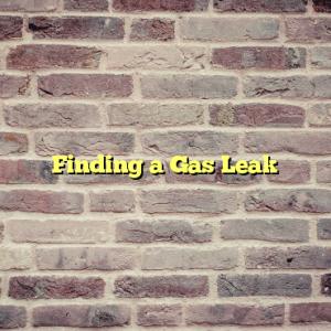 Finding a Gas Leak