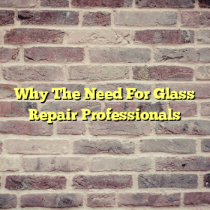 Why The Need For Glass Repair Professionals
