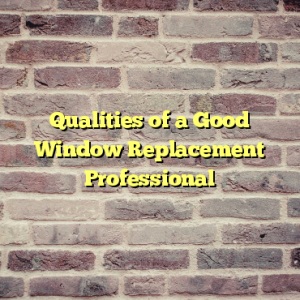 Qualities of a Good Window Replacement Professional